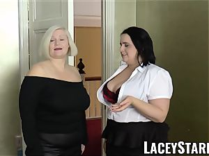 LACEYSTARR - girls spunked on their torrid faces by bbc
