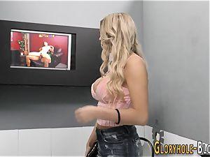 teenager blonde milking bbc