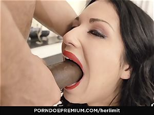 HER confine - black-haired doll takes it rock-hard up the butt