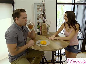 Lily Adams plows her horny stepbrother