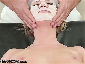 FantasyMassage Bailey Brooke On Top of masseuses hard-on!