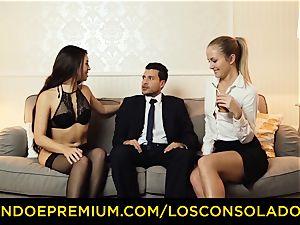 LOS CONSOLADORES - super-hot honies teach romp with executive