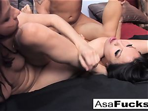 Asa and Dana team up for a steaming 3 way with Derrick