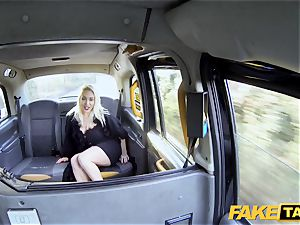 fake cab blond mummy Victoria Summers torn up in a taxi