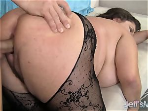 giant boobed Kacey Parker is crammed with dick
