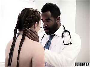 Maddy O'Reilly Exploited into big black cock anal invasion at Doctors exam