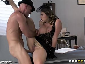 Gangster spend time with a mature bombshell