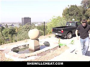 SheWillCheat - asian wifey pulverized By pummel friend
