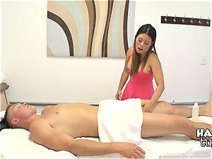 kinky tiny chinese stunner Katsuni railing her patients man meat