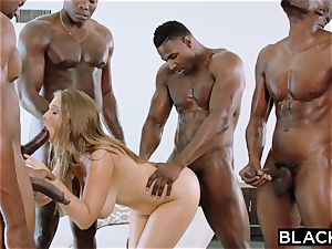 BLACKED Lena Paul very first bi-racial group sex