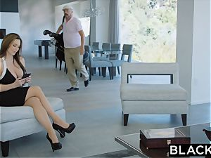 BLACKED scorching Trophy wifey boinks bbc in husband's couch