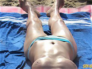 scorching topless mummies ample bumpers - inexperienced hidden cam Beach movie