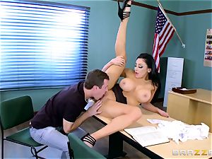 My curvaceous wild schoolteacher is exploiting my chisel in the classroom