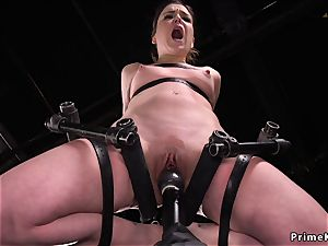 brown-haired snatch lips tormented in instrument
