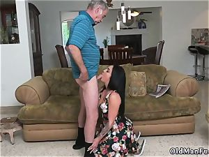 Mature boy tears up youthful gal Frannkie s a quick learner!