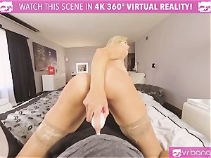 VRBangers.com-MILF is ramming a vibro in her coochie