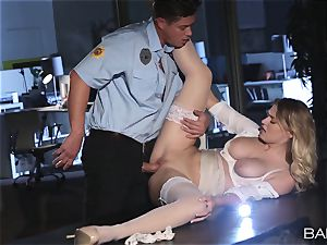 Natalia Starr nailed by the night security guard