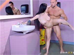 tempting wc plumbing for blistering black-haired Noelle Easton