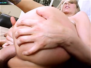 Julia Ann getting her gaping fuckhole stretched