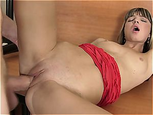 young Gina gets her fuckbox ripped open