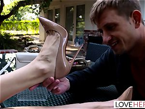 LoveHerFeet - ultra-kinky Nina North sole humps stiff schlong