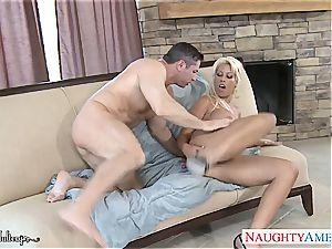 big-chested ash-blonde honey Bridgette B. take schlong